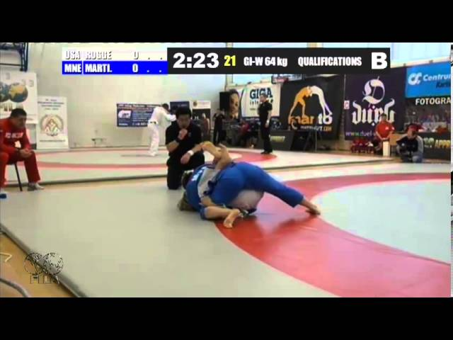 Gi-W 64 KG - QF - Ryan Rogge (USA) vs. Mirjana Martinovic (MNE)