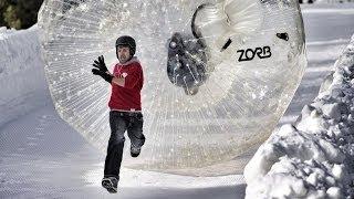 Life Size Human Snow Bowling