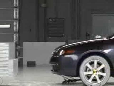 2008 Acura  on Crash Test 2005   2008 Acura Tsx   Honda Accord Iihs   Youtube