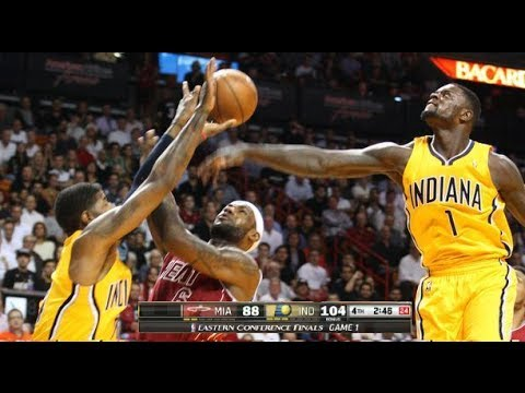 MIAMI HEAT vs INDIANA PACERS Game 1 NBA Playoffs 2014 (Pacers Take Game 1)