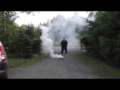 Halloween Pyrotechnics: Smoke Bomb (Daylight)
