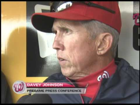 Davey Johnson talks about the closed-door meeting prior to tonight's Nats-Pirates game.