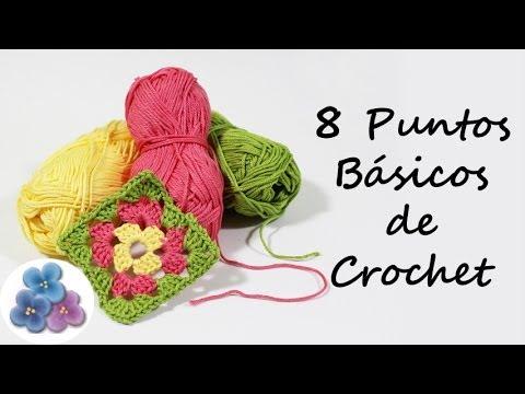 Como hacer 8 puntos basicos de crochet trapillo curso de - Como hacer trapillo ...