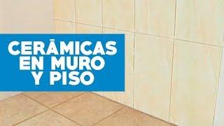 Instalar ceramicas en muro y piso