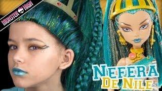 Monster High Nefera De Nile Doll Costume Makeup Tutorial