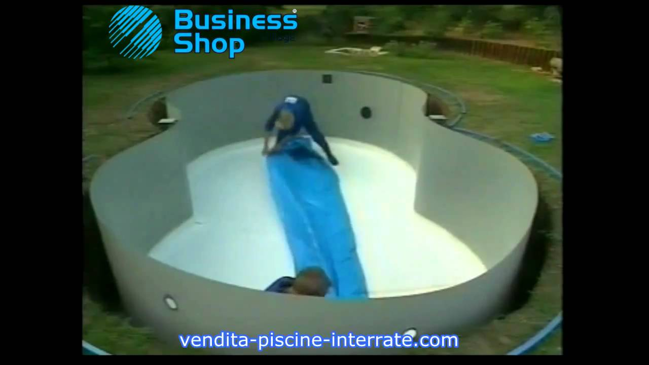 Piscina interrata riva zodiac a forma di otto in kit fai da te video installazione youtube - Piscine in vetroresina usate ...