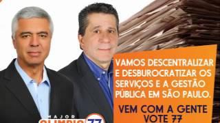 Jingle da campanha do candidato Major Olimpio e do vice David Martins