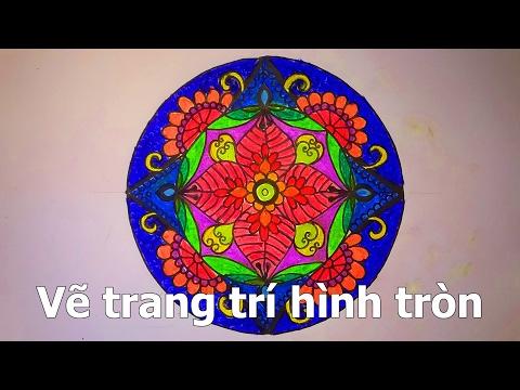 Trang trí hình tròn cơ bản - How to draw mandala