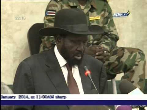 President Salva Kiir Speech to Political Parties in South Sudan