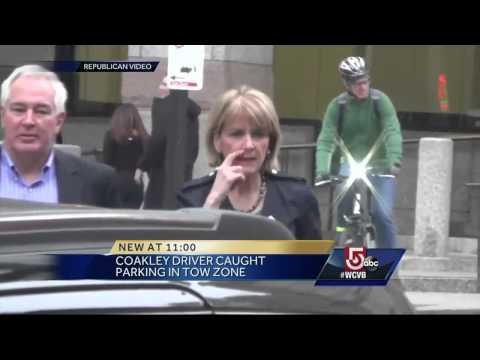 Martha Coakley Caught Illegally Parking