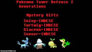 Pokemon Tower Defense Generations Mystery Gift Normal