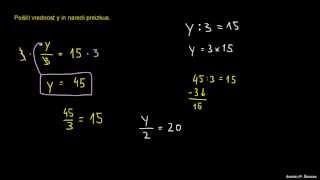 Reševanje enačb 2