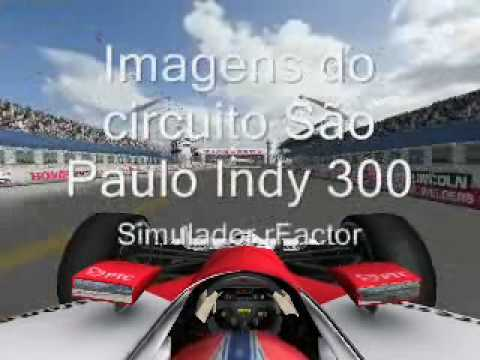 São Paulo Indy 300 - video simulador rFactor