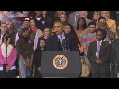 President Obama's speech at CCSU in New Britain