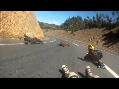 Patagual street luge prueba de pista