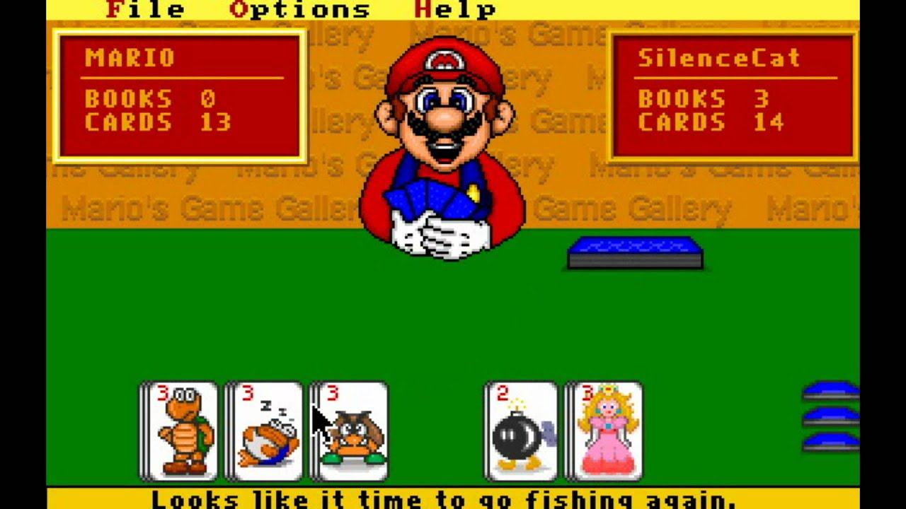 Let 39 s play mario 39 s game gallery part 1 go fish hd for Mario go fish