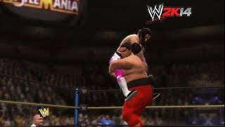 """WWE 2K14"" How-To: Bret Hart Vs. Yokozuna At WrestleMania"