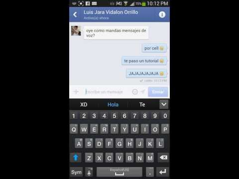 Tutorial: Como grabar voz en Facebook chat y WhatsApp