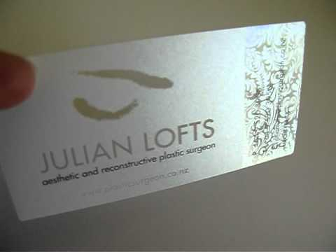 Award winning plastic business card design youtube for Award winning business card designs