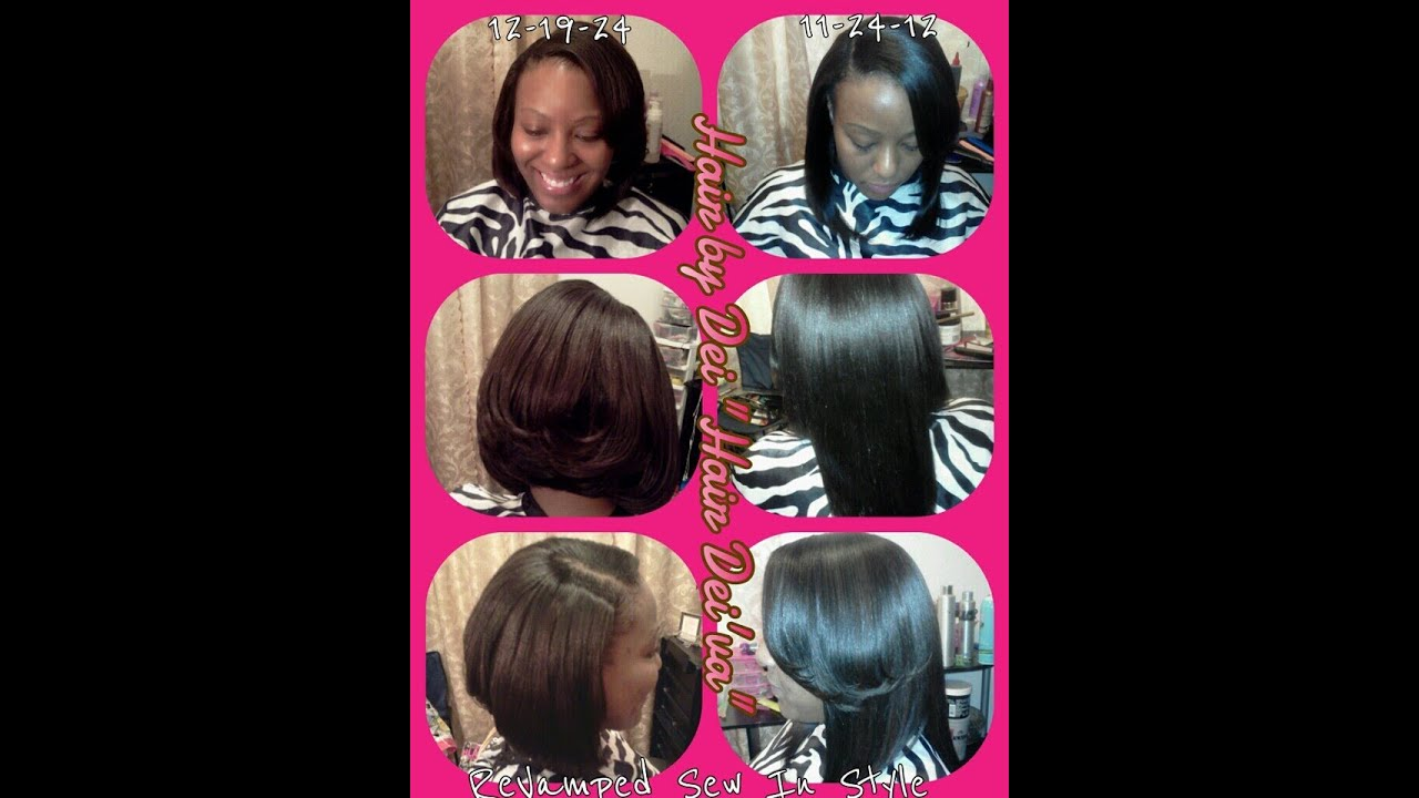 Sew in Feathered Bob Hairstyles Bangs