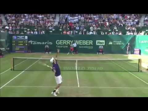 ATP Halle - Roger Federer Vs Kei Nishikori - Full Highlights -14th June 2014