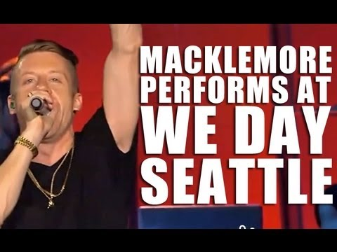 Macklemore performs Can't Hold Us at We Day Seattle