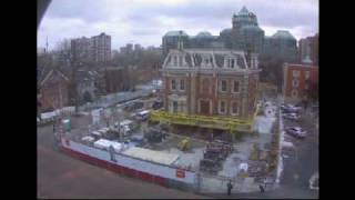 Historic photo from Monday, December 15, 2008 - James Cooper Mansion Moving onto Transfer Slab - time lapse in Upper Jarvis