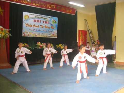 Minh Nghĩa Đường Vimikid: biểu diễn võ thuật Mẫu giáo Mầm non Tự Lập
