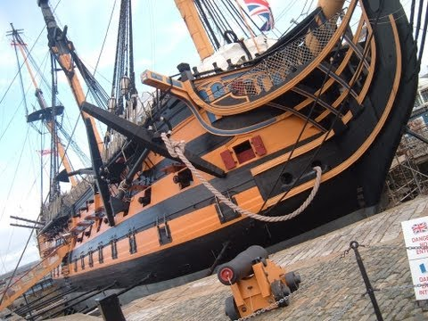HMS Victory in 2011 - Low light camera used.
