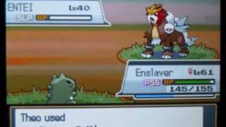 Pokémon Heart Gold: Catching Entei In A Premier Ball