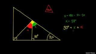 Koti v trikotniku – primer 3