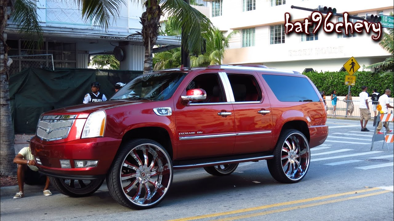 Cadillac Escalade Esv Lifted On 32 Quot Forgiatos 1080p Hd