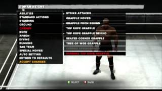 WWE 13 Roman Reigns Moveset