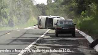 Cinegrafista flagrou acidente durante gravação de materia sobre outro acidente.