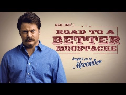 Beginners tips for stache growth by Ron Swanson :)