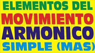 MOVIMIENTO ARMONICO SIMPLE Y SUS ELEMENTOS