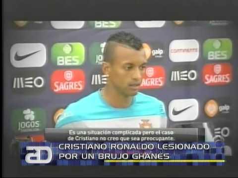 América Noticias: 04.06.14 Cristiano Ronaldo lesionado por un brujo ghanés