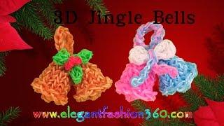 Rainbow Loom Jingle Bells 3D Charms How To Loom Bands