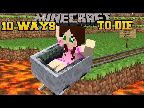 Minecraft: CRAZIEST DEATHS IMAGINABLE! - MORE WAYS TO DIE - Custom Map