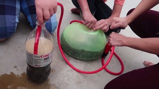 Super Wubble Bubble Ball Mentos Diet Coke Fun!!