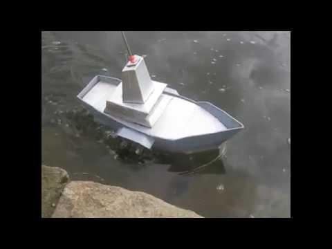 Tàu thủy làm từ giấy bìa - RC Handmade Carton Boat