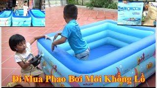 Bể Bơi Phao Khổng Lồ Tại Nhà Cho Bé/ Bé Đi Mua& Bơm bể bơi Phao Khổng Lồ*_*Baby channel
