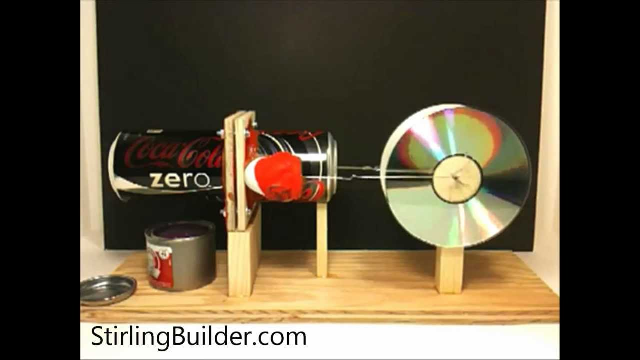Building The Horizontal Pop Can Stirling Engine Youtube