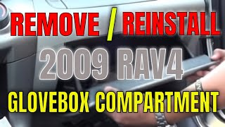 DIY RAV4 2009 Removing Glove Box
