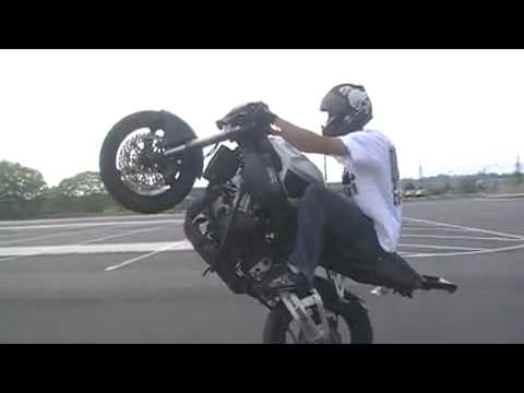Stunt riding HONDA   cbr954  Dino