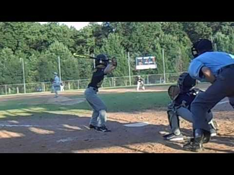 Sawyer Crum hits inside the park homer for Norcross Minor League Oakland A's 9-4-13 in scrimmage