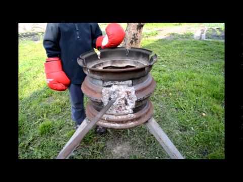 Печь ракета из газового баллона своими руками