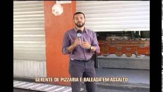 Funcion�ria de pizzaria � baleada em assalto
