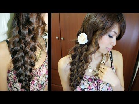 Mermaid Tail Braid Hairstyle Hair Tutorial, ♥