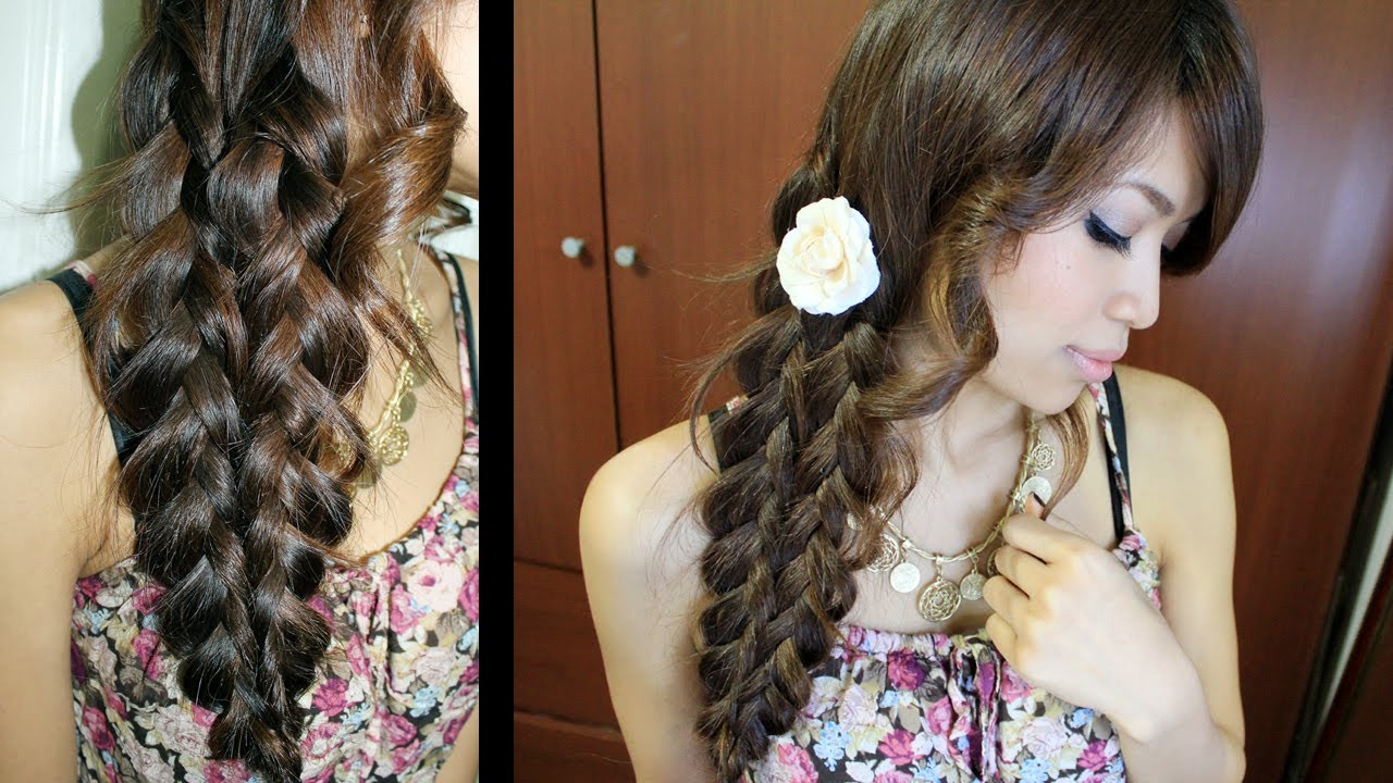 Mermaid Tail Braid Hairstyle Hair Tutorial - YouTube